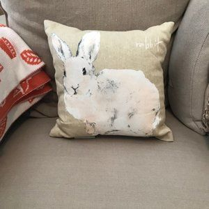 NWOT! Pottery Barn Small Accent Pillow ~ Bunny